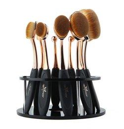 Держатели для зубных щеток онлайн-Горячая мода макияж кисти профессиональный 10 шт. Набор кистей зубная щетка макияж кисти с держателем кисти Бесплатная доставка