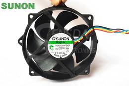 Wholesale Sunon Dc Fan - Original Sunon Maglev Round CPU Case Cooling Fan KDE1209PTVX 4 4W 4 Pin DC 12V Tested