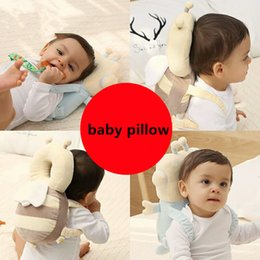 Wholesale Cute Mats - Cute Pillow Newborn Infant Baby Fall Prevention Cushion Pillow Child Head Anti-collision Mat For Baby Head Back Protection