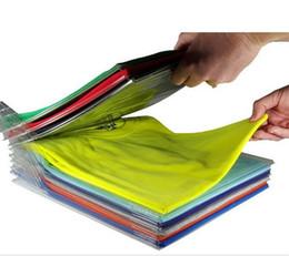 Cremagliera di funzione online-Creativo Multi Function Vestiti Rack Rack System File Shelf Divider Organizer Ezstax T Shirt Folder Storage Holders 10 5K KK