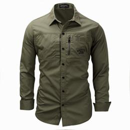 658867dde Nuevos hombres de gran tamaño europeos y americanos de manga larga de  solapa con cremallera camiseta de algodón ejército ejército camisa  ocasional al aire ...