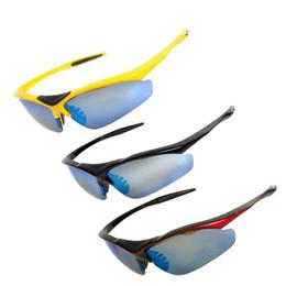 2019 ciclo óculos preto amarelo Nova Lente Intercambiáveis Óculos de Equitação Esportes Ao Ar Livre À Prova de Vento de Proteção UV Óculos de Ciclismo Ao Ar Livre PretoVermelhoAmarelo Cor ciclo óculos preto amarelo barato