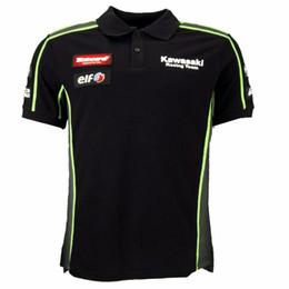 Argentina Envío gratis MotoGP Team Green POLO camiseta motocicleta camisa de polo ocasional apta para los fanáticos de carreras 100% camiseta de algodón Y Suministro