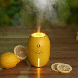 Wholesale Travel Air Humidifier - Lemon Air Humidifier Tabletop Air Purifier Ultrasonic Humidifier with LED Night Light USB Cool Mist Humidifier For Travel Office Home