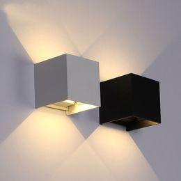 Garten im freien online-6W LED Wandleuchte im Freien wasserdicht IP65 moderne nordische Art Innenwand Lampen Wohnzimmer Veranda Garten Lampe AC90-260V