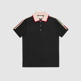 Wholesale Tiger Shirts For Men - Top Luxury Brand embroidery t shirts POL for men Italy Fashion poloshirt shirt men High street Little Bee Tiger print G&G mens POLOS
