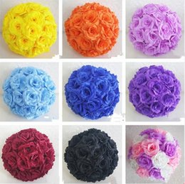 Haut de gamme blanc artificielle Rose Soie Fleur Balle Suspendre Embrasser Boules 30 cm 12 Pouce Dia Ball Pour La Décoration De Noce Fournitures ? partir de fabricateur