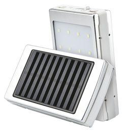 Caricabatterie online-scatola di Banca di potere Dual USB Portable Solar LED 5x18650 caricabatteria esterno fai da te scatola di ricarica portatile per il telefono poverbank esterno
