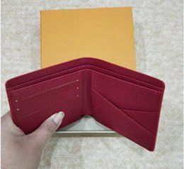 Wholesale Notes Money - AAA High Quality Leather Wallets For Men women Designer Bifold Money Purse Clutch Bags Traver Wallet with gift box 01
