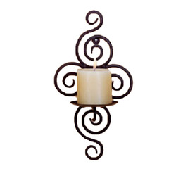 Wholesale wall match holder - Home Candlestick Holders Handmade Iron Hanging Wall Sconce Candle Holder Shelf Furnishing Articles Decoration Valentine Gift