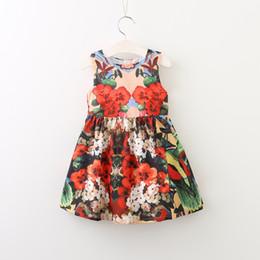 699e4878d6a Baby Girls Summer Dress Robe Fille 2017 Brand Children Dress Kids Clothing  Flower Print Princess Costume Girls Dresses Vestidos
