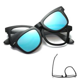 Wholesale Magnet Rectangle - Rectangle Style TR90 Frame Magnetic Clip on Sunglasses Polarized Driving Male Magnet Men Mirror Sunglasses Frame Eyeglasses