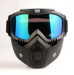 Wholesale Mask Goggle - Motorcycle goggles glasses 2018 mask motocross helm dust gafas moto