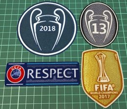 4 pics a lot 2018+13+respect+champions league patch football Print patches  badges 6790b9ac3