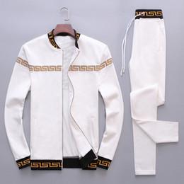 Argentina Diseñador de la marca de lujo Europa Italia Estrellas Moda Chándal para hombre Sudadera deportiva Casual Chaqueta con cremallera Cabeza humana Logo M-4XL cheap panel jacket Suministro