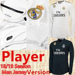 b1da6d4e 2019 Mbappé Player Version Long Sleeve Soccer Jersey 18 19 Real Madrid Home  Soccer shirt #7 RONALDO #8 KROOS #22 ISCO Football uniform real madrid  jersey ...
