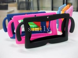 Wholesale Tablet Pc Gel Skin Cases - 7 colors Kids Soft Silicone Rubber Gel Case Cover For Q88 A13 A23 A33 Q8 Android Tablet PC
