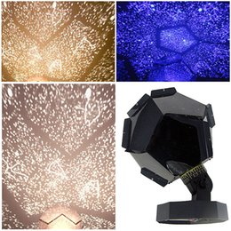 diy estrela projetor luz noturna Desconto Presente Luz Laser Galaxy de LED Estrela Astro Sky projeção Cosmos Night Lights Projetor estrelado Romantic Home Quarto Decoração Iluminação Kid