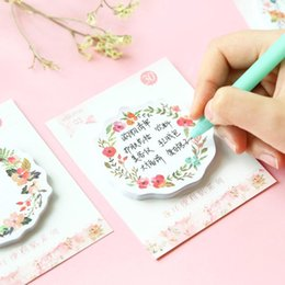 Wholesale Diary Decoration Sticker - Wholesale- 8 pcs Lot Floral sticky notes Romantic rose sticky notes Diary stickers Message note Stationery office School supplies F620