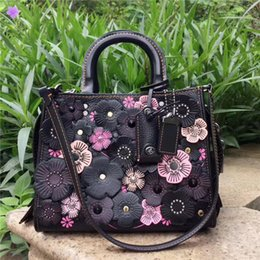 Wholesale Designers Handbags For Ladies - Luxury Designer Handbags High Quality C Genuine Leather Bag Rivet Chain Crossbody For Women Shoulder Bags