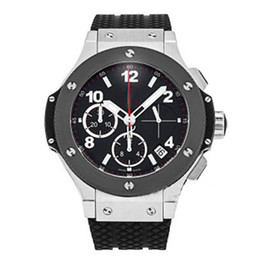 Wholesale hot christmas sales - Luxury mens watch automatic movement watch men F1 hot sale Luxury Brand Big Bang black face rubber original strap watch men wristwatches