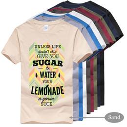 Zucker druck t-shirts online-Fashion Street T-Shirts, ZUCKERMATER LEMONADE Bedruckte Baumwolle T-Shirts