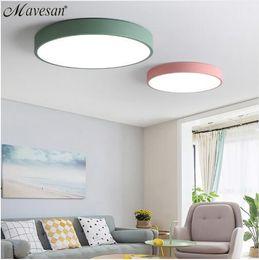 2019 coole hausleuchten LED-Deckenleuchten für Schlafzimmer-Fernbedienung 5cm Deckenleuchte für 8-20square moderne Hausbeleuchtung Macaroon rabatt coole hausleuchten