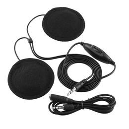 шлемофон наушников bluetooth Скидка 3.5 мм мотоцикл шлем колонки Bluetooth домофон мотоцикл Интерком Наушники Наушники регулятор громкости для MP3 и MP4 автомобилей