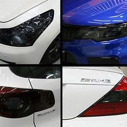 adesivo logo toyota Sconti auto auto fari posteriori cambiamento di colore chiaro opaco della lampada glitter nero fumo della tinta della pellicola dell'involucro del vinile che designa gli accessori
