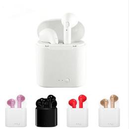 Deutschland In-Ohr I7S TWS Twins Bluetooth Ohrhörer Mini I7 Wireless Kopfhörer Headset mit Mikrofon Stereo V4.2 Kopfhörer für iPhone Android mit Ladegerät Box cheap bluetooth mini earphones earbuds Versorgung