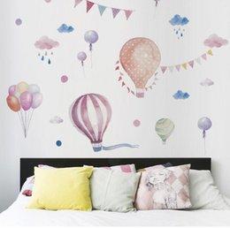 2019 клубничные картины Новый цвет воздушный шар стены стикеры девушка стиль декоративные наклейки детская комната ТВ стены украшения наклейки
