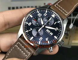 Wholesale Digital Leather Watch - Mens luxury Superlative ZF factory ETA 7750 43mm Airplane 904L stainless steel Bracelet Swiss Movement Automatic Mens Racing blue Watches