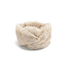 Wholesale Free People Lace - Water soluble Lace G Hollow women fashion headband luxury turban hair band hair accessories