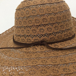 korean garden hats Promo Codes - New Style Straw Hollow out lace Hat For  Ladies Korean 9828cd9cd32