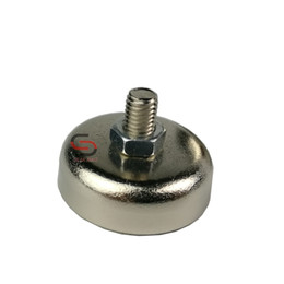 Wholesale Ring Force - Strong powerful Neodymium magnet pot with thread M5*9mm steel cup magnetic base speaker precision machine fixture D20mm 13KG pull-force