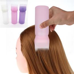 Cepillo caliente del aplicador de la botella del tinte de pelo que dispensa el regalo de teñido del pelo del salón para las muchachas 3 colores desde fabricantes