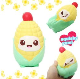 Wholesale toy corn - Cartoon Corn Chicken Squishy Cute 14.5cm Jumbo Slow Rising Scented Bread Kids Fun Toy Gift Squeeze Bread Squishy KKA5088