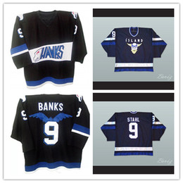 Wholesale Ducks Throwback - S-5XL Mighty Ducks Movie Jersey Hawks 9 Adam Banks 9 Iceland Gunnar Stahl Stitched Embroidery Logos Throwback Any Name Number Hockey Jerseys