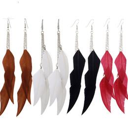 Canada Boho plume Tassel boucles d'oreilles perles boucles d'oreilles pour les femmes de la mode jewelrybohemia de style indien suspendus pendants boucles d'oreilles livraison gratuite Offre