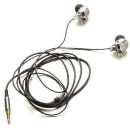 Calaveras mp3 online-El cráneo plateado dirige los auriculares del auricular del metal del puerto de 3.5mm para los iPads iPod Phone MP3