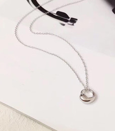 Wholesale Bean Pendant Necklace - 2018 New arrival S925 Pure silver Brand name small bean type for women pendant necklace Fashion Trendy jewelry gift PS6027
