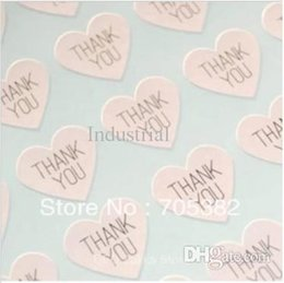 Wholesale Wedding Thank Stickers - Wholesale 2016 -THANK YOU heart design Sticker Labels Seals.3.8cm, Gift stickers for Wedding seals,300pcs lot (SS-7132)