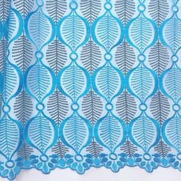 2019 tecidos africanos alaranjados do laço Mais recente de Alta Qualidade Tecido de Renda Africano Tule 2018 Bordado Azul Laranja Africano Laço de Casamento Francês Tecido De Renda De Noiva Suíço tecidos africanos alaranjados do laço barato