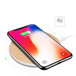 Wholesale galaxy note wood - Qi Wireless Charger Wood fast Wireless Charger Charging Pad for Samsung Galaxy S8 S7 Note 8 for iPhone X 8 8Plus