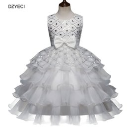 Wholesale Teenager Pageant Dresses - Elegant Dresses For Teenager Girl Costume Carnival Children Sleeveless Glitz Pageant Gown Ball Princess Dress Kid Bridesmaid Bow Frock