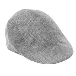 Wholesale Wholesale Scarf Sets - New Grey Womens Mens Newsboy Duckbill Driving Cap Flat Cabbie Linen Beret Hat Boina Casual Hot