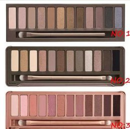 makeup factory cosmetics Promo Codes - Factory Direct smoky makeup NO:1 2 3 Palette 12 color eyeshadow Cosmetic 2018