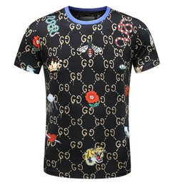 Wholesale Design Polo T Shirts - 10colors Cotton polo for man GG Casual Flora Snake print linen T-shirt New arrive design brand men polo shirt fashion poloshirts