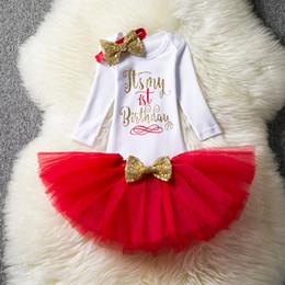 Infant Birthday Party Kleider für Kinder Mädchen 1. Birthday Party Kleidung Langarm Tutu Kleider Kleinkind Prinzessin Anzug von Fabrikanten