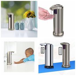 Wholesale Touchless Liquid Soap Dispensers - 2 Colors Automatic Soap Dispenser Touchless Stainless Steel Infrared Sensor Liquid Soap Dispenser Motion Sensor AAA425